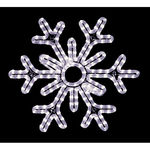 18 in. - Cool White - LED Rope Light - Hanging Snowflake - 120 Volt