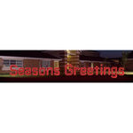 3.9 ft. x 44.1 ft. - Red - LED Rope Light - Seasons Greetings Sign - 120 Volt