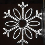 3 ft. - Cool White - LED Rope Light - Snowflake Pole Decoration - 120 Volt