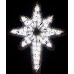 4.8 ft. - Cool White - C7 LED - Hanging Garland Star of Bethlehem - 120 Volt