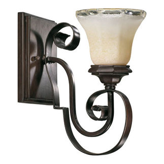 Quorum 5521-1-13 - Wall Sconce - 1 Light -  Coffee Finish