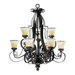 Quorum 6121-9-13 - Chandelier - 9 Light - Coffee Finish