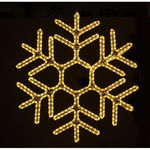 3 ft. - Warm White - LED Rope Light - Hanging Snowflake - 120 Volt