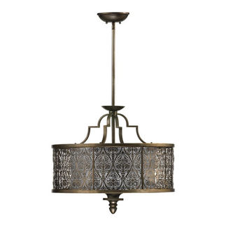 Quorum 8197-4-18 - Pendant - 4 Light - Vintage Pewter Finish