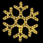 18 in. - Warm White - LED Rope Light - Hanging Snowflake - 120 Volt