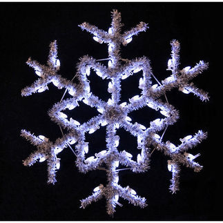 4 ft. - Cool White - C7 LED - Hanging Garland Snowflake - 120 Volt