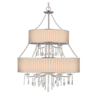Golden Lighting 8981-9 BRI - Transitional 2-Tier Chandelier
