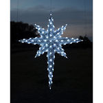 6.8 ft. - Cool White - C7 LED - 3D Moravian Star - 120 Volt