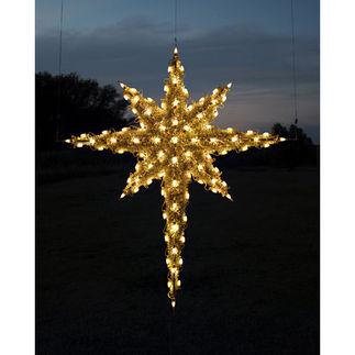 6.8 ft. - Warm White - C7 LED - 3D Moravian Star - 120 Volt