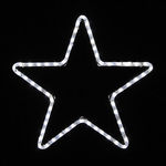 1.75 ft. - Cool White - LED Rope Light - 5-Point Star - 120 Volt