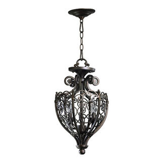 Quorum 6831-2-86 - Foyer Pendant - 2 Light - Oiled Bronze Finish