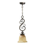 Quorum 3139-62 - Mini Pendant - 1 Light - Autumn Dusk