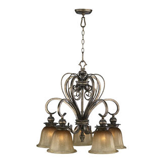 Quorum 6421-4-13 - Nook Pendant - 5 Light - Autumn Dusk