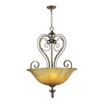 Quorum 8139-3-62 - Bowl Pendant - 3 Light - Autumn Dusk