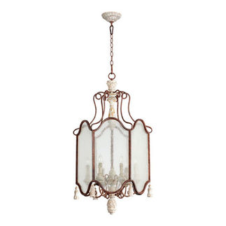 Quorum 6852-6-56 - Foyer Pendant - 6 Light - Manchester Gray