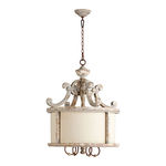 Quorum 8052-4-56 - Drum Pendant - 4 Light - Manchester Gray