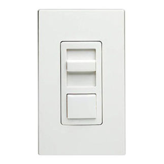 Leviton IllumaTech IPX06-10Z - Single Pole/3-Way - Preset Electro-Mechanical Electronic Mark 10 Powerline Fluorescent Slide Dimmer - 600VA - White