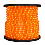 Incandescent - Amber - Rope Light - 1/2 in. - 2 Wire - 120 Volt - 150 ft. Spool - American 033-AM