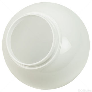 6 in. Acrylic Globe - White - 3.25 in. Neck - 3201-50650