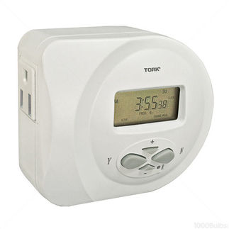 Tork 454D - 7 Day Digital Plug-In Timer - 15 Amps - 120 VAC