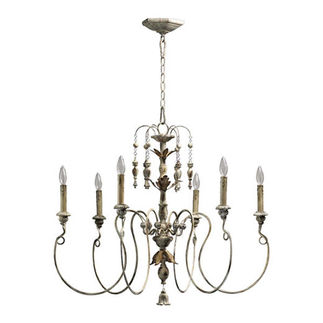 Quorum 6006-6-70 - Medium Chandelier - 6 Light - Persian White