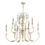 Quorum 6206-9-70 - Large Chandelier - 9 Light - Persian White