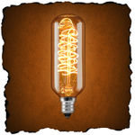 40 Watt - Vintage Antique Light Bulb - Tubular Style