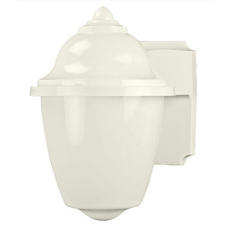 Acorn Wall Lantern - 1 Light - White Acrylic - Polymer Products 2120-10200