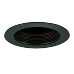 4 in. - Black Baffle Cone Reflector and Ring