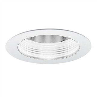 4 in. - White Baffle Cone Reflector and Ring