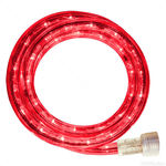 Incandescent - 12 ft. - Rope Light - Red- 120 Volt