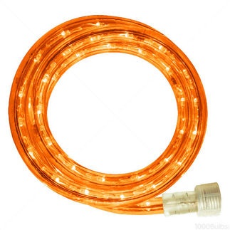 Incandescent - 18 ft. - Rope Light - Amber - 120 Volt