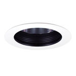 4 in. - Black Baffle Cone Reflector and White Ring