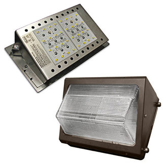 LED Wall Pack - 42 Watt - 2400 Lumens - 5000K Stark White - 120/277 Volt - AC Electronics AC-106/36/350