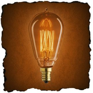 25 Watt - Vintage Antique Light Bulb - ST15 Nostalgic Style - Hand-Wound Cage Filament - Multiple Supports - Clear