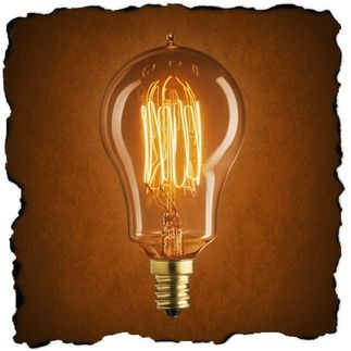 25 Watt - Vintage Antique Light Bulb - A15 Nostalgic Style - Hand-Wound Cage Tungsten Filament - Multiple Supports - Clear