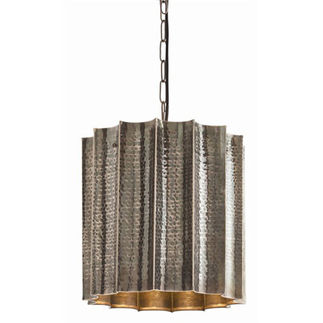 Arteriors 46716 - Scalloped Hammered Pendant