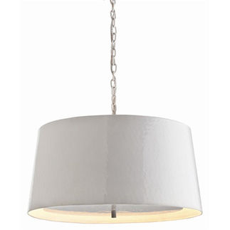 Arteriors 46806 - Large Hammered Iron Pendant