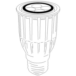 10 Watt - Dimmable LED - PAR16 - 3000K Warm White - Flood - 1290 Candlepower - 60 Watt Equal - Sylvania 78895