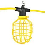 28 ft. String Light with 4 Lamp Holders and Guards - Molded Plugs - 12/3 SJTW Cord - PLT GL-CUSTOM-28FT