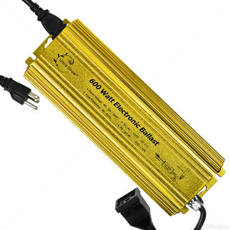 Plantmax UG-EB600 - 600 Watt - Digital Ballast - Grow Light Metal Halide or High Pressure Sodium - Dimmable - Universal Plug - 120/244 Volt