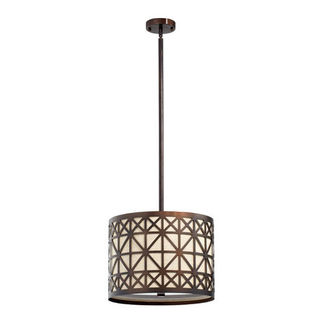 Quorum 812-3-86 - Ornate Pendant - 3 Light
