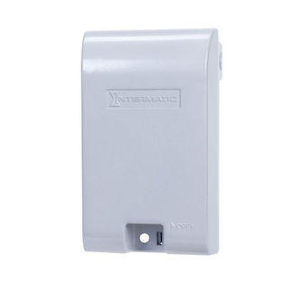 Intermatic WP1010MXD - Weatherproof Receptacle Cover - Single Gang - Gray Die Cast Aluminum - 3-1/8 in. Depth