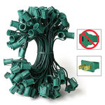 (100) Sockets - C7 Heavy Duty Commercial Stringer - Length 100 ft. - Socket Spacing 12 in. - Green Wire