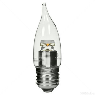 4.5 Watt - Dimmable LED - Clear CA10 Bent Tip