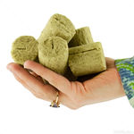 Grodan Stonewool Round Macroplugs - With Silt - 1,750 Plugs Per Case