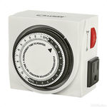 Titan Controls 734100 - Apollo 8 - 24-Hour Indoor Analog Timer - 2 Outlets - Controls Grow System Devices - 1800 Max. Wattage - 120V - 15A