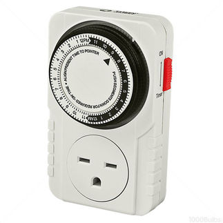Titan Controls 734145 - Apollo 10 - 24-Hour Indoor Analog Timer - 1 Outlet - Controls Grow System Devices - 2400 Max. Wattage - 240V - 10A