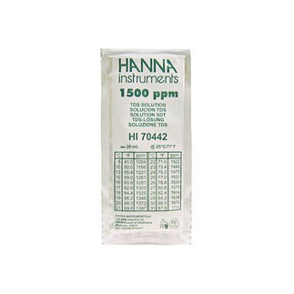 Hanna 1500 ppm KCl TDS Calibration Solution - 20 ml