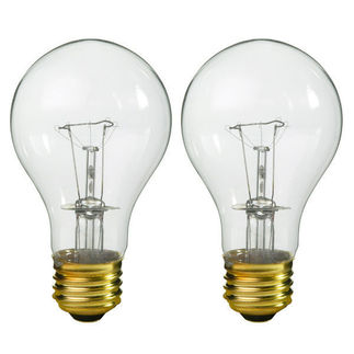 40W A19 Incandescent Light Bulb 130 Volt | 2 Pack